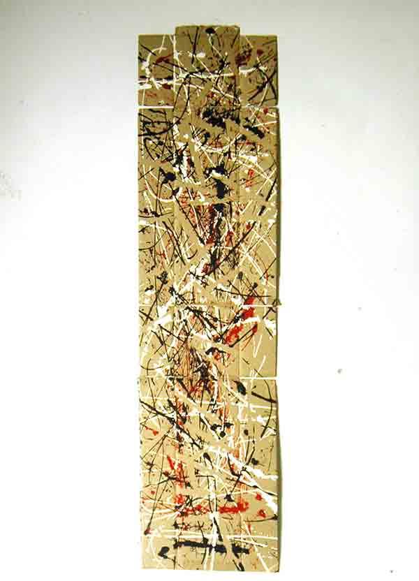 Albero; 1993; 56x216 cm; smalto su cartone