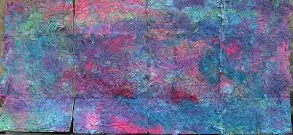 2000 scatole di fazzoletti da 150; 1993; 107x226 cm; acrilico su cartone