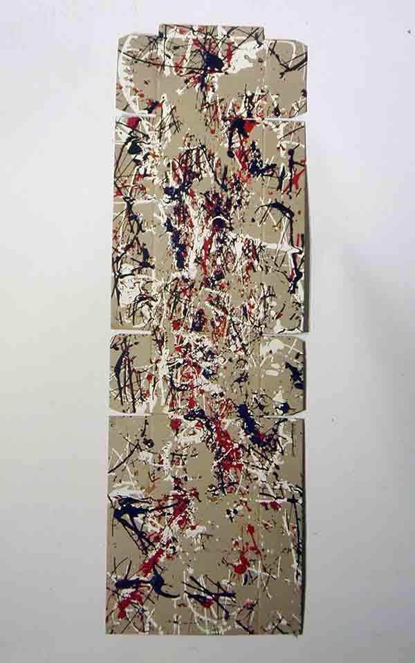 Intermittenza 7; 1993; 52x164 cm; smalto su cartone
