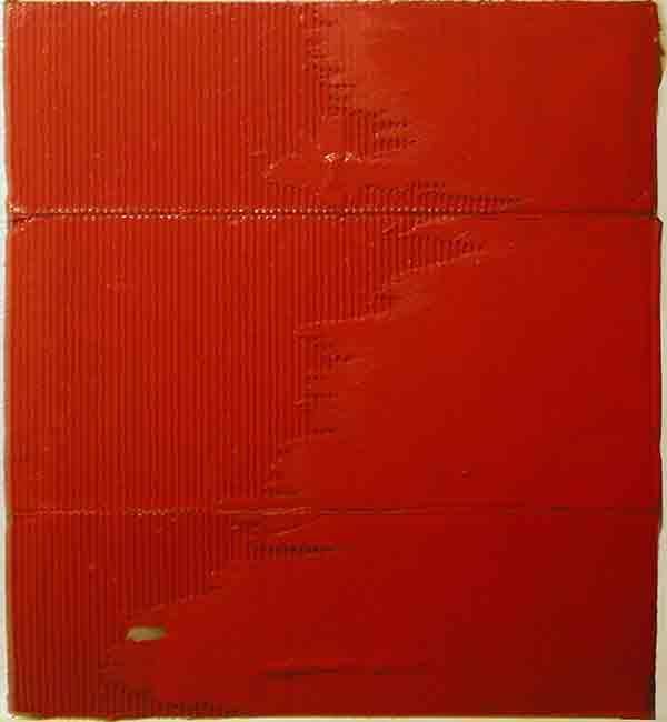 senza titolo; 1993; 56x62 cm; smalto su cartone