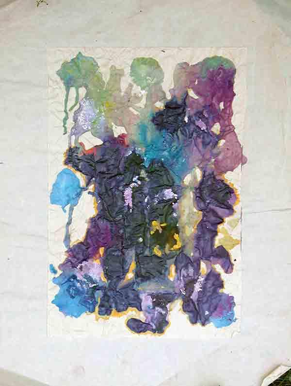 senza titolo; 1993; 36,5x49,5 cm; acrilico su carta