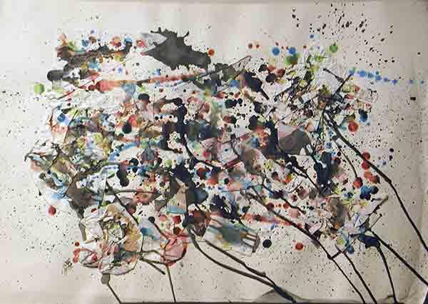 senza titolo; 1993; 50x70 cm; ecoline su cartone