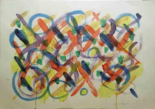 senza titolo; 1993; 50x70 cm; tempera su carta