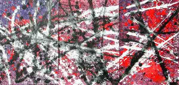 senza titolo; 1992; 105x35 cm; colori a terra su carta