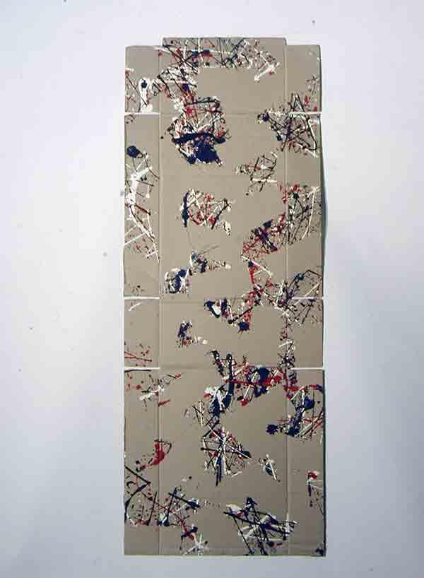 senza titolo; 1993; 69x188 cm; smalto su cartone