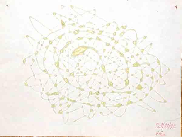 senza titolo; 1992; 21x28 cm; colla su carta