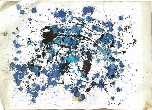 senza titolo; 1990; 50x50 cm; smalto, tempera su carta
