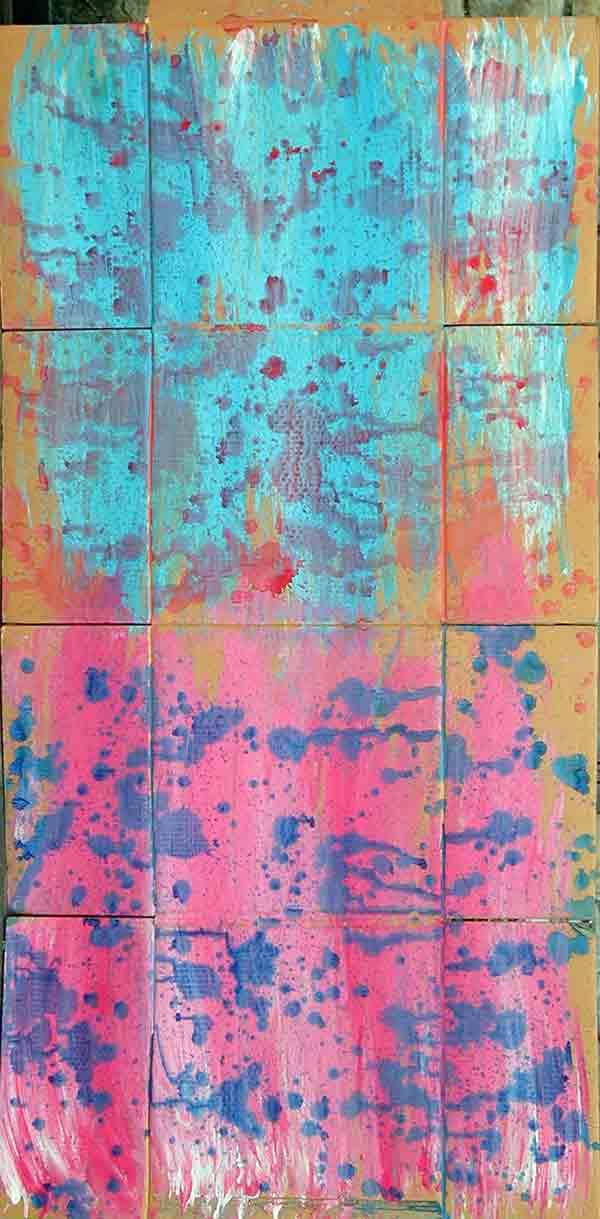 senza titolo; 1993; 88x180 cm; tempera su cartone