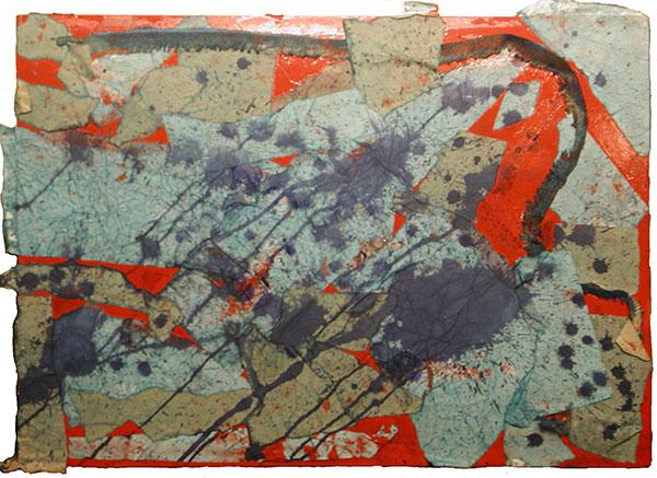 senza titolo; 1995; 50x70 cm; smalto, inchiostro; su tela