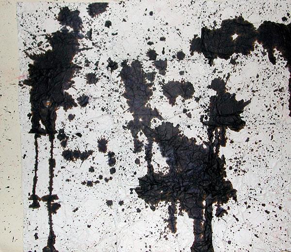 senza titolo; 1995; 49x53 cm; inchiostro su carta