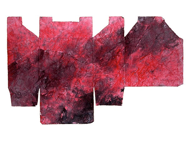 senza titolo; 1995; 36x158 cm; inchiostro su cartone
